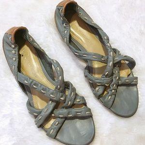 B. Makowsky Leather Sandals 6.5